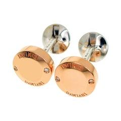 Damiani 18 Karat Pink Gold White Gold Diamond Combi Cufflinks