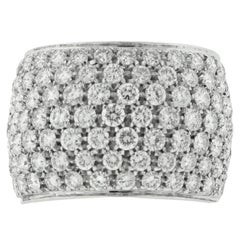 Damiani 18 Karat White Gold Diamond Band 3.25 Carat Total Weight
