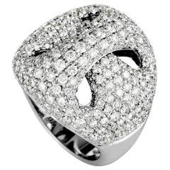 Damiani 18 Karat White Gold Diamond Pave Ring