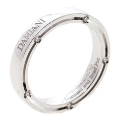 Damiani & Brad Pitt Diamond 18k White Gold Wedding Band Ring Size 58