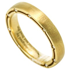 Damiani Brad Pitt Diamond Wedding Band in 18 Karat Yellow Gold
