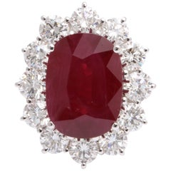 Damiani Burma Ruby and Diamond Ring GIA Certified