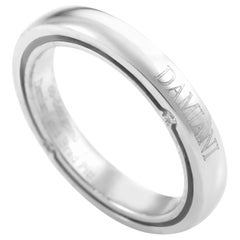 Damiani D. Side Brad Pitt Women's 18 Karat White Gold Diamond Band Ring