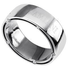 Damiani D. Side Women's 18 Karat White Gold Diamond Band Ring 20016589