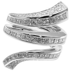 Damiani Diamond Spiral White Gold Cocktail Ring