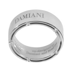 Damiani D.Side Brad Pitt 18 Karat White Gold 10 Diamond Band Ring