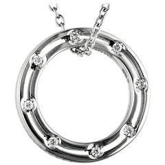 Damiani D.Side Brad Pitt 18 Karat White Gold Diamond Band Ring Pendant Necklace