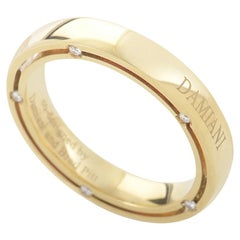 Damiani D.Side Brad Pitt 18 Karat Yellow Gold 10 Diamond Band Ring 20008621