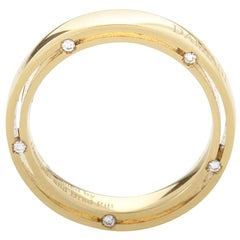 Damiani D.Side Brad Pitt Yellow Gold 10-Diamond Band Ring