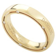 Damiani D.Side Brad Pitt 18 Karat Yellow Gold 10 Diamond Band Ring