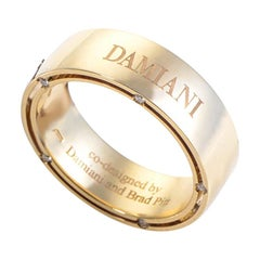 Damiani D.Side Brad Pitt 18 Karat Yellow Gold 10 Diamonds Band Ring