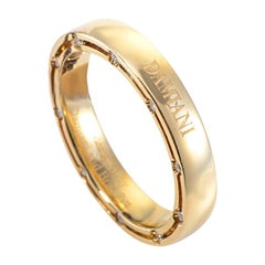 Damiani D.Side Brad Pitt 18 Karat Yellow Gold 20 Diamonds Band Ring