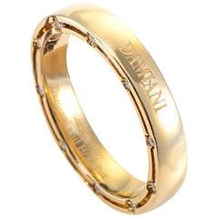 Damiani D.Side Brad Pitt 18 Karat Yellow Gold 20 Diamonds Band Ring