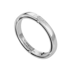 Damiani D.Side Brad Pitt Platinum 4-Diamond Band Ring