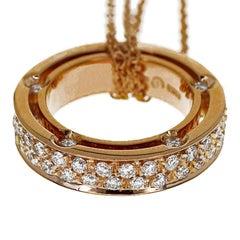 DAMIANI D.Side Diamond Necklace 18 Karat Pink Gold