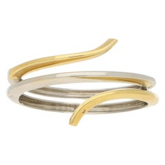 Damiani Eden Diamond Bangle Bracelet in 18k Yellow and White Gold