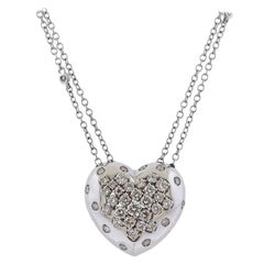 Damiani Gold 1.13 Carat Diamond Heart Pendant Necklace