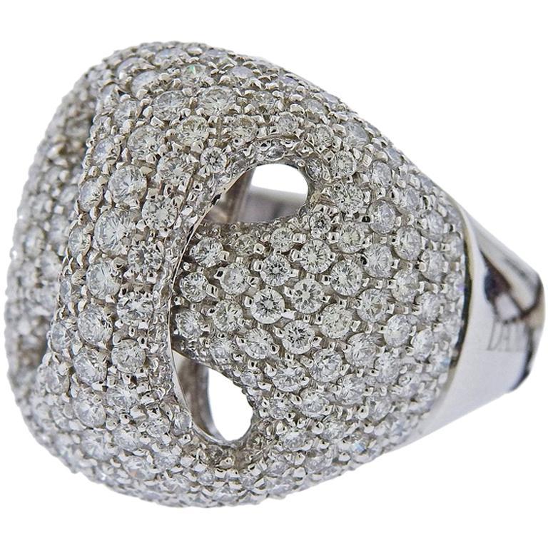 Damiani Gold Diamond Ring