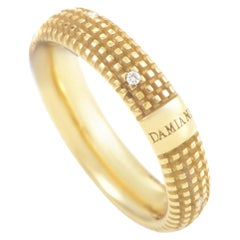 Damiani Metropolitan 18 Karat Yellow Gold 9 Diamonds Band Ring