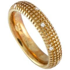 Damiani Metropolitan 18 Karat Yellow Gold 9-Diamond Band Ring