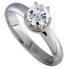 Damiani Queen 18 Karat White Gold Diamond Engagement Ring