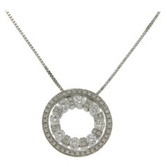 Damiani's Belle Époque 18 Karat Gold Round Diamond Pendant Necklace