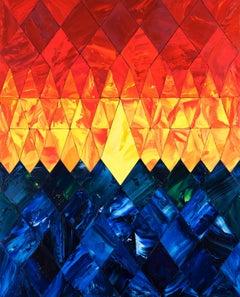 """2019-""""THE DIAMOND"""" MONADIC, Painting, Oil on Wood Panel"""