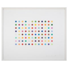 "Damien Hirst ""Bromphenol Blue"" Etching with 96 Dots"