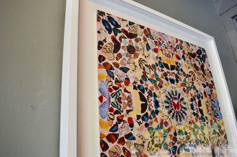 Damien Hirst Butterfly Kaleidoscope Wallpaper In Excellent Condition For Sale In Los Angeles, CA