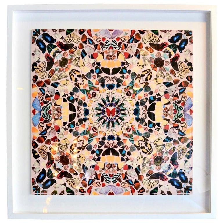 """Damien Hirst Butterfly Kaleidoscope Wallpaper """"Unframed"""" For Sale"""
