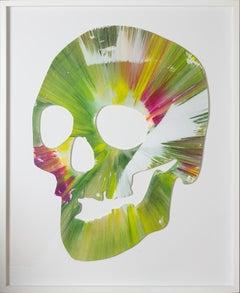 Damien Hirst - Spin Painting Green Skull, 2009