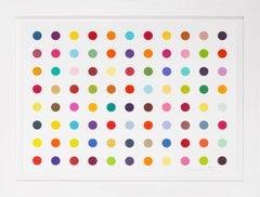 Damien Hirst, Horizontal 'Spots' I, Woodcut, 2018