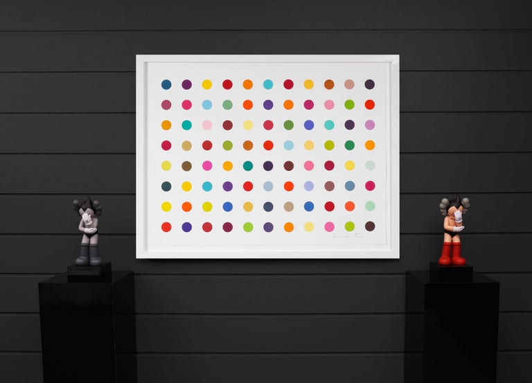Damien Hirst, Horizontal 'Spots' Woodcut, 2018 - Contemporary Painting by Damien Hirst