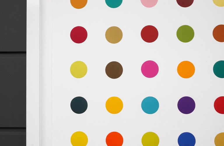 Damien Hirst, Horizontal 'Spots' Woodcut, 2018 - Gray Abstract Print by Damien Hirst