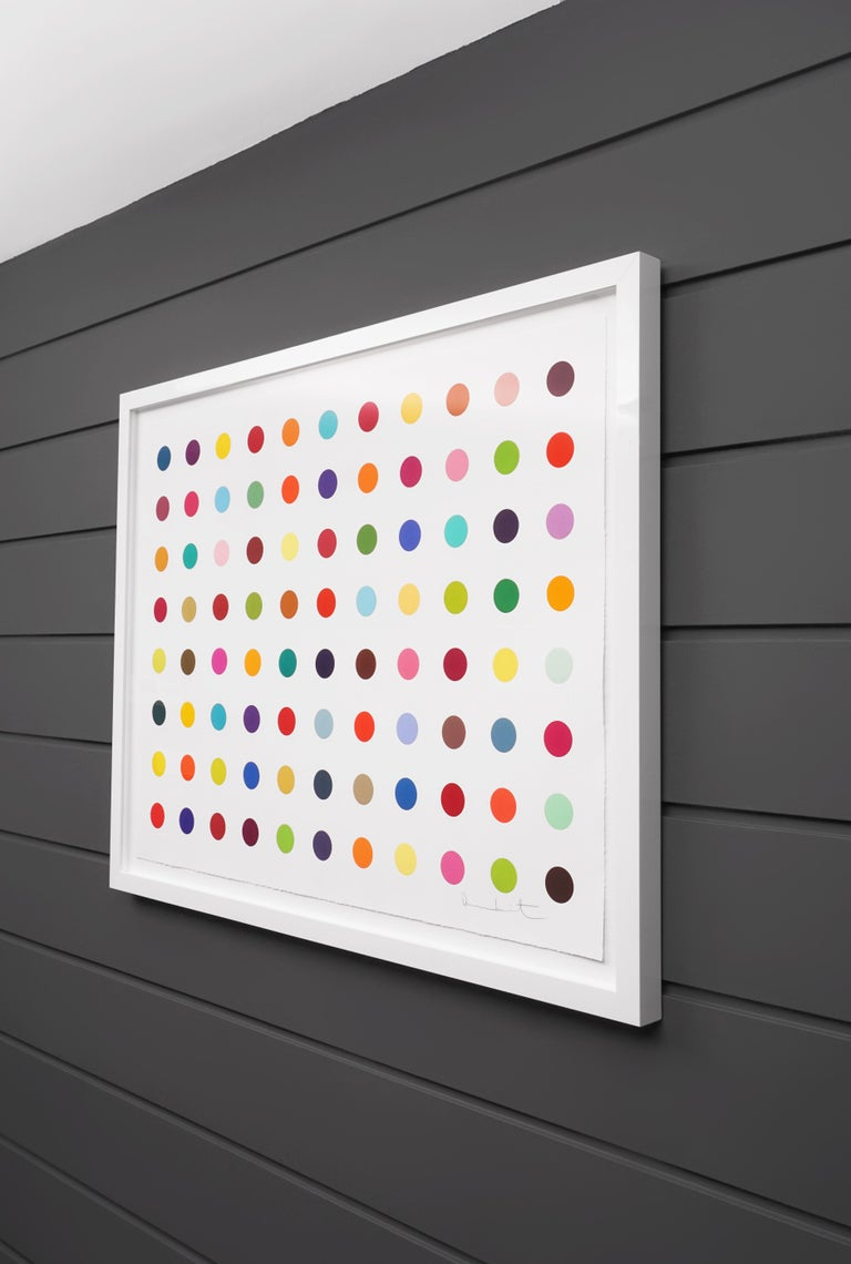Damien Hirst, Horizontal 'Spots' Woodcut, 2018 For Sale 1
