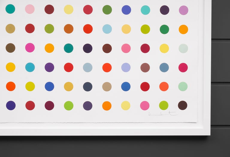 Damien Hirst, Horizontal 'Spots' Woodcut, 2018 For Sale 2