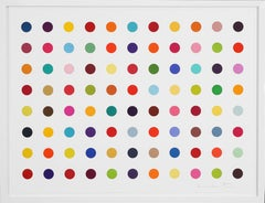 Damien Hirst, Horizontal Spots, Woodcut, 2018