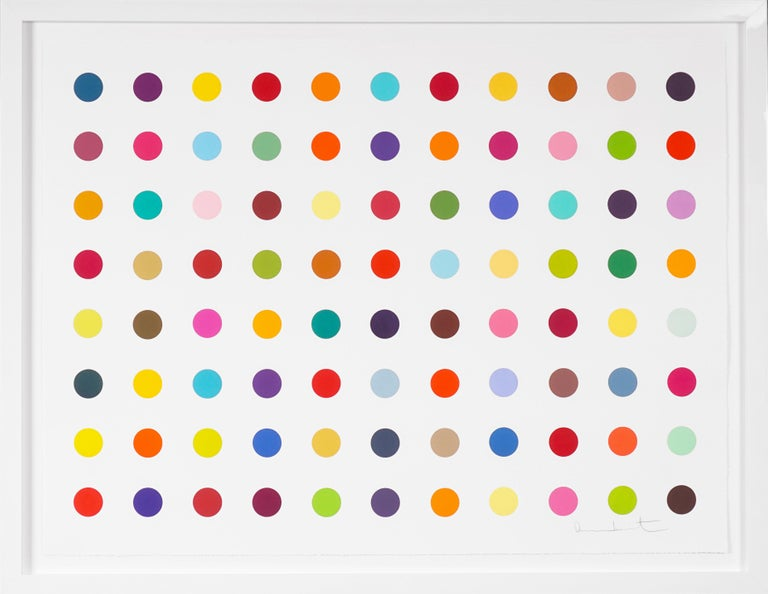 Damien Hirst, Horizontal 'Spots' Woodcut, 2018 - Painting by Damien Hirst