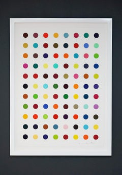 "Damien Hirst, Multi-color ""Spots"" (2018)"