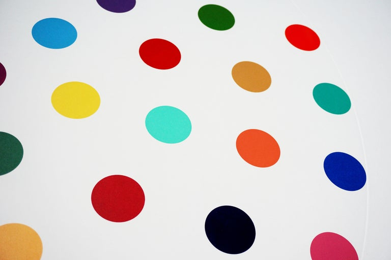 Damien Hirst, Multi-color 'Spots' Etching, 2004 For Sale 7