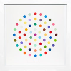 Damien Hirst, Multi-color Spots Etching, 2004