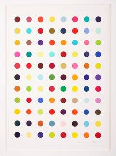 Damien Hirst, Multi-color Vertical 'Spots', 2018