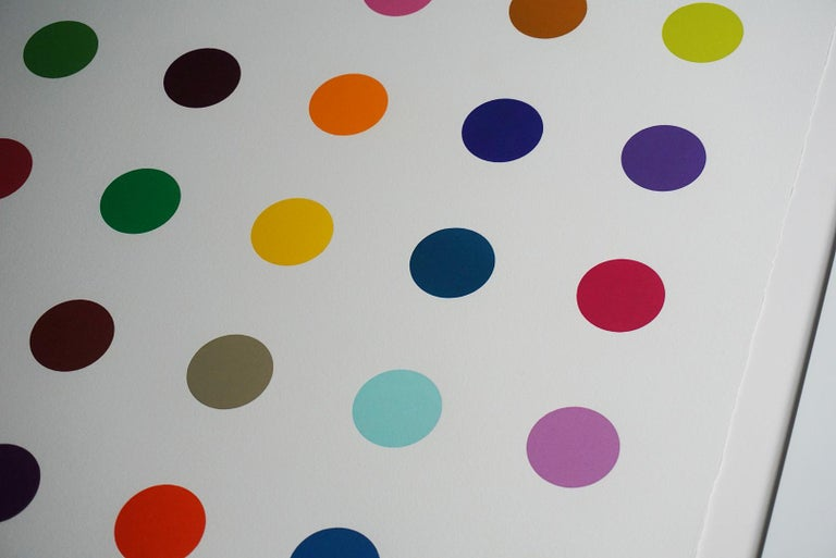 Damien Hirst, Multi-color Vertical Spots Woodcut, 2018 For Sale 7