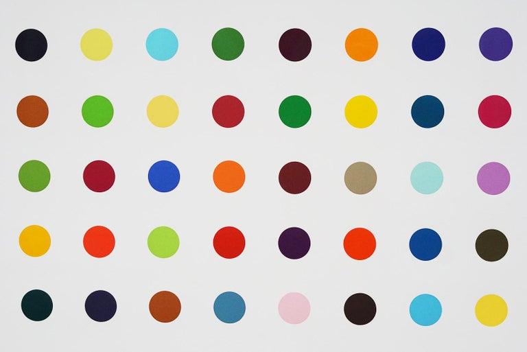 Damien Hirst, Multi-color Vertical Spots Woodcut, 2018 For Sale 8