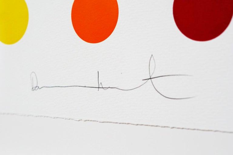 Damien Hirst, Multi-color Vertical Spots Woodcut, 2018 For Sale 1