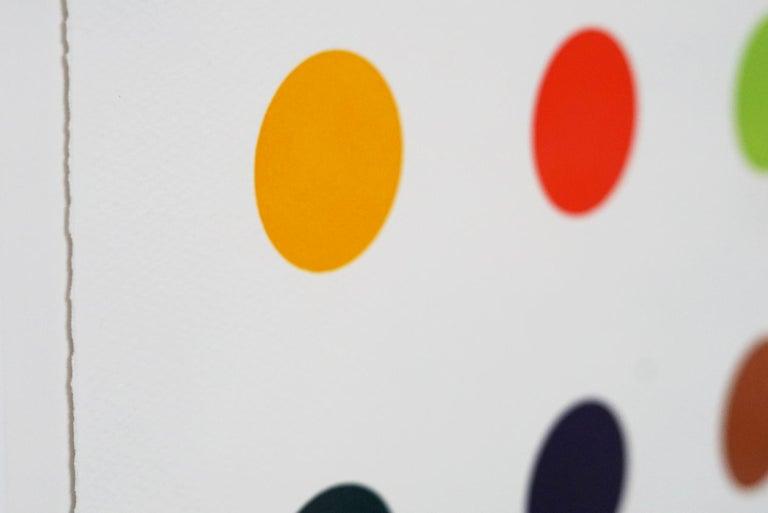 Damien Hirst, Multi-color Vertical Spots Woodcut, 2018 For Sale 4