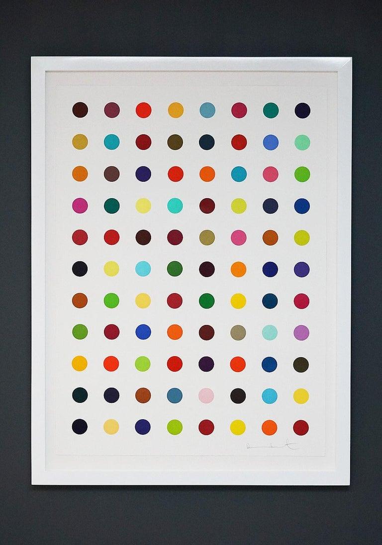 Damien Hirst, Multi-color Vertical Spots Woodcut, 2018 For Sale 6
