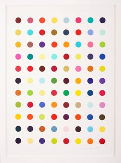 Damien Hirst, Multi-color Vertical Spots Woodcut, 2018