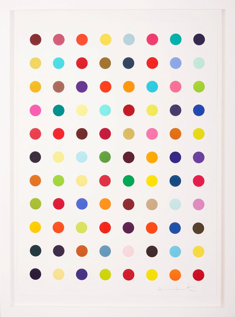 Damien Hirst, Multi-color Vertical Spots Woodcut, 2018 - Painting by Damien Hirst
