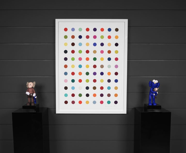 Damien Hirst, Vertical 'Spots' I, Woodcut, 2018 - Contemporary Print by Damien Hirst